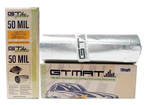 10-sqft-gtmat-pro-50mil-roll-18-x-68-car-truck-panel-deck-door-automotive-audio-sound-deadener-deade