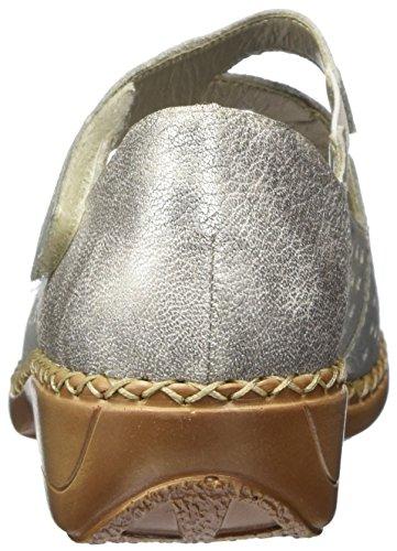 Rieker 41345, Bailarinas para Mujer Plateado (Silver/altsilber / 90)