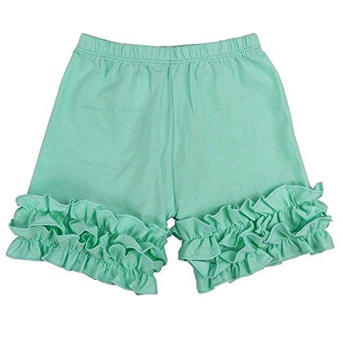 Wennikids Baby Little Girls Short Cotton Icing Ruffle Shorts XX-Large Aqua ()