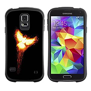 Suave TPU GEL Carcasa Funda Silicona Blando Estuche Caso de protección (para) Samsung Galaxy S5 / CECELL Phone case / / Flaming Phoenix 2 /