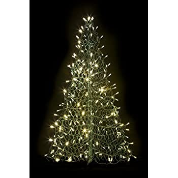 4 crab pot christmas tree with 240 clear warm white led mini lights