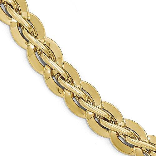"""Bracelet poli 14 carats - 7 """"- JewelryWeb"""