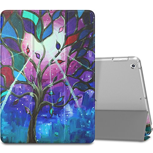 MoKo Case Fit iPad 9.7 5th/6th Generation - Slim Lightweight Smart Shell Stand Cover with Translucent Frosted Back Protector Fit Apple iPad 9.7 Inch 2018/2017, Sun and Fitest(Auto Wake/Sleep)