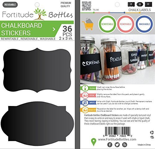 Fortitude Bottles Chalkboard Removable Re writable