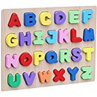 Webby Wooden Capital Alphabets Letters Learning Educational Tray Toy for Kids