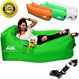 Weelax Inflatable Lounger - Best Air Lounger for Travelling, Camping, Hiking - Ideal Inflatable Couch for Pool and Beach Parties - Perfect Air Chair for Picnics or Festivals (Green)