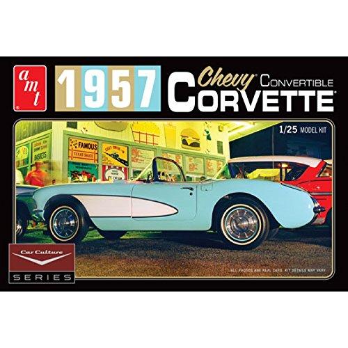 AMT 1016//12 Aqua 1//25 57 Corvette Convertible Car Culture Series