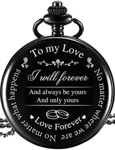 Pangda Pocket Watch to Husband Wife Boyfriend Girlfriend Gift, Engraved