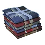 Men's Handkerchiefs 100% Cotton Classic Fine Hankies by BoosKey Soft and Large - 12 Pack