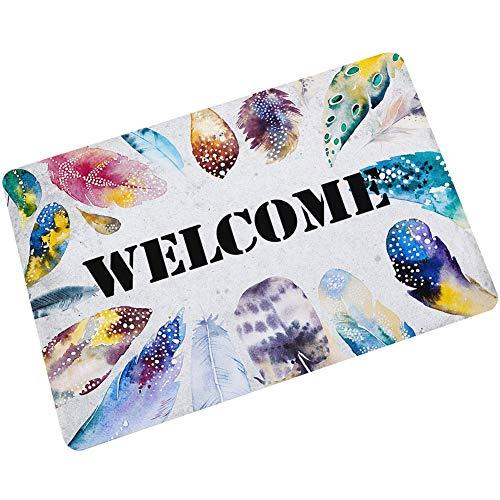 NEARTIME Custom Doormat Monogram Pattern Personalized Name Non Slip Entrance Indoor Outdoor Welcome Door Mat (Doormat Costume)