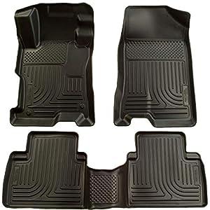 Husky Liners 98601 Fits 2007-12 Nissan Altima 4 Door Weatherbeater Front & 2nd Seat Floor Mats, Black