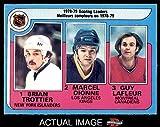 1979 O-Pee-Chee # 3 Scoring Leaders Brian Trottier / Marcel Dionne / Guy LaFleur Islanders / Kings-Hockey / Canadiens (Hockey Card) Dean's Cards 6 - EX/MT Islanders / Kings-Hockey / Canadiens
