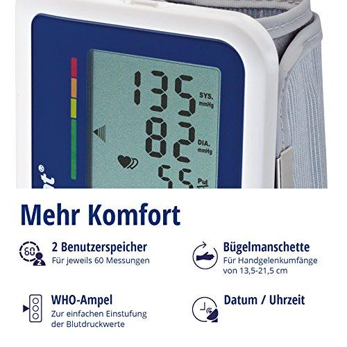 Visomat Handy Soft - Tensiómetro de muñeca, con batería y adaptador de corriente: Amazon.es: Salud y cuidado personal