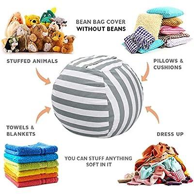 Adidome Stuffed Animal Bean Bag Storage Chair,Plush Multi-Purpose Plush Toy Stuffed Animal Toy Storage Bag Packing Organizers: Home & Kitchen