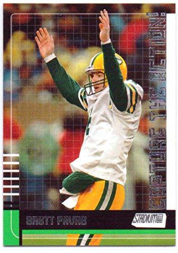 (Brett Favre 2000 Stadium Club Capture the Action #CA1 - Green Bay Packers)