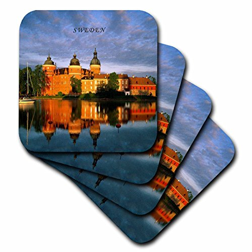3dRose cst_80526_2 Picture of Gripsholm Castle in Sweden-Soft Coasters, Set of (Gripsholm Castle)