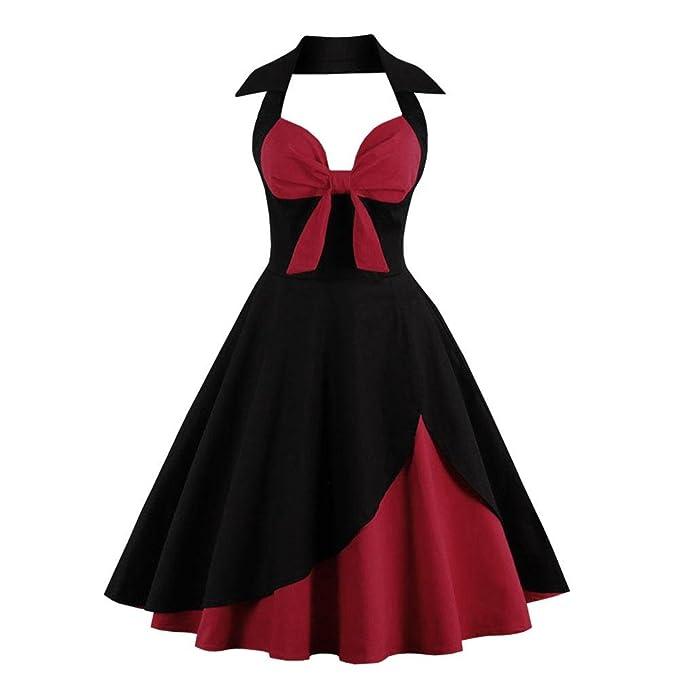 V Vestido de Bowknot de una Sola Pieza Vestidos Sin Mangas Vestido Sexy Vestidos Largos de