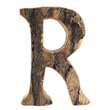 AugusWu Vintage Wooden Alphabet Letter Wall Decor Decorative Signs of the Special Day or Occasions Letter R
