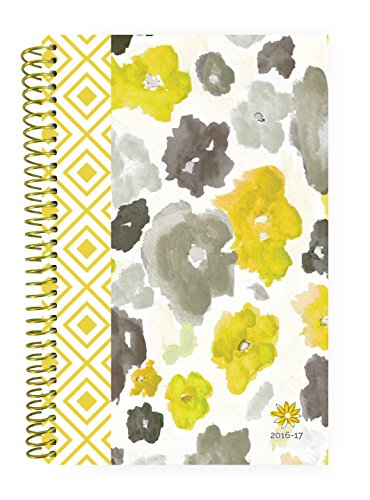 "bloom daily planners 2016-17 Academic Year Daily Planner (+) Passion/Goal Organizer (+) Fashion Agenda (+) Weekly Diary (+) Monthly Datebook Calendar (+) August 2016 - July 2017 (+) 6"" x 8.25"" - Watercolor"
