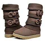 Dream Pairs Little Kid Klove Brown Faux Fur Lined Mid Calf Winter Snow Boots - 3 M Us Little Kid | amazon.com