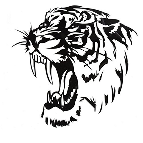 4 Door Hood - UNKE Car and Auto Decal Series Tiger 4 Sticker for Windows, Doors, Hoods