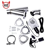 #4: Evilenergy 3 Inch Electric Exhaust Cutout Remote Valve Motor Kit
