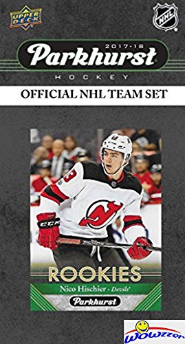 New Jersey Devils 2017/18 Upper Deck Parkhurst NHL Hockey EXCLUSIVE Limited Edition Factory Sealed 10 Card Team Set including #1 Draft Pick Nico Hischier, Adam Henrique & All the Top Stars! WOWZZER!