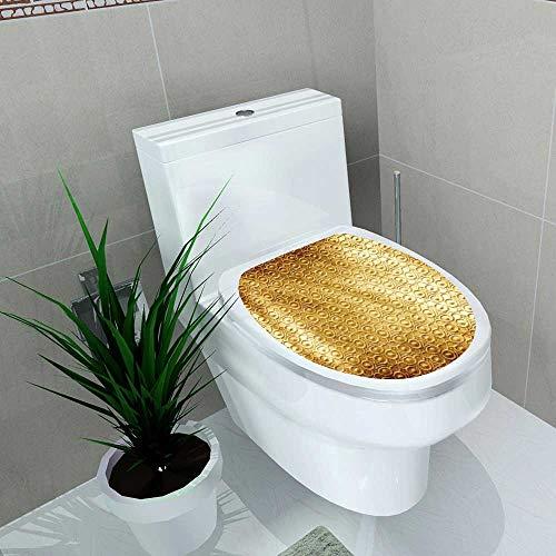 Auraise-home Bathroom Toilet seat Sticker Decal Gold Plate Decal Sticker Vinyl W8 x L11 -