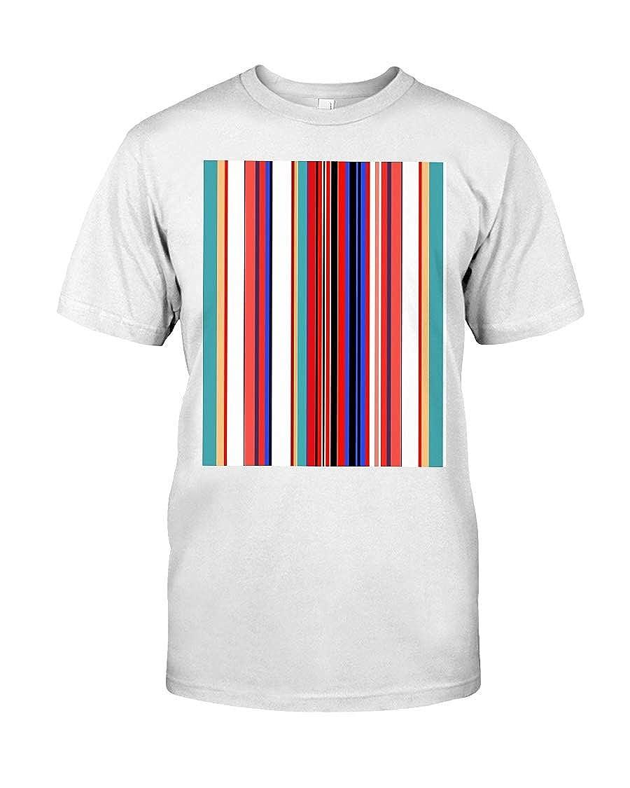 Barbara Sweet Retro Stripes Premium Fit Tee 3XL White