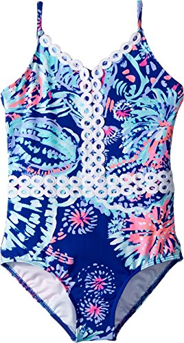 Lilly Pulitzer Kids Baby Girl's UPF 50+ Mals Swimsuit (Toddler/Little Kids/Big Kids) Twilight Blue Gypsea Girl 14 - Lilly Pulitzer Infant