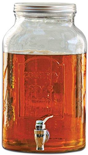 Circleware Country Glass Mason Jar Beverage Set, 1.5 Gallon Beverage Drink Dispenser, 6 Yorkshire Mason Jars, 16 Ounce Each, Gift Boxed by Circleware (Image #2)
