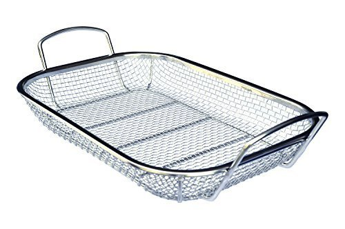 Culina Stainless Steel Square BBQ, Vegetable and Grilling Basket ()