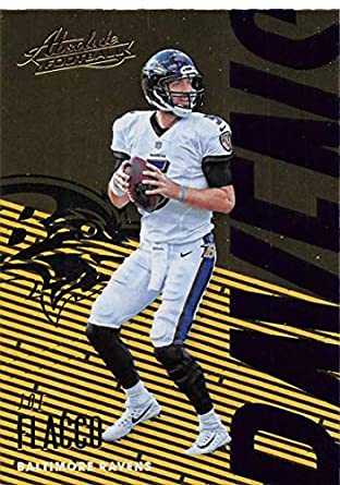 6ba65dece02 2018 Absolute Football  7 Joe Flacco Baltimore Ravens Official NFL Trading  Card made by Panini