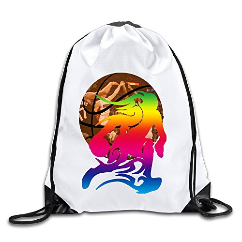 Zhanzy Basketball Player 5 Large Drawstring Sport Backpack Sack Bag Sackpack