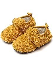 Peuter kinder pantoffels wollen warme pantoffel, indoor baby antislip rubberen zool huis schoen voor jongens