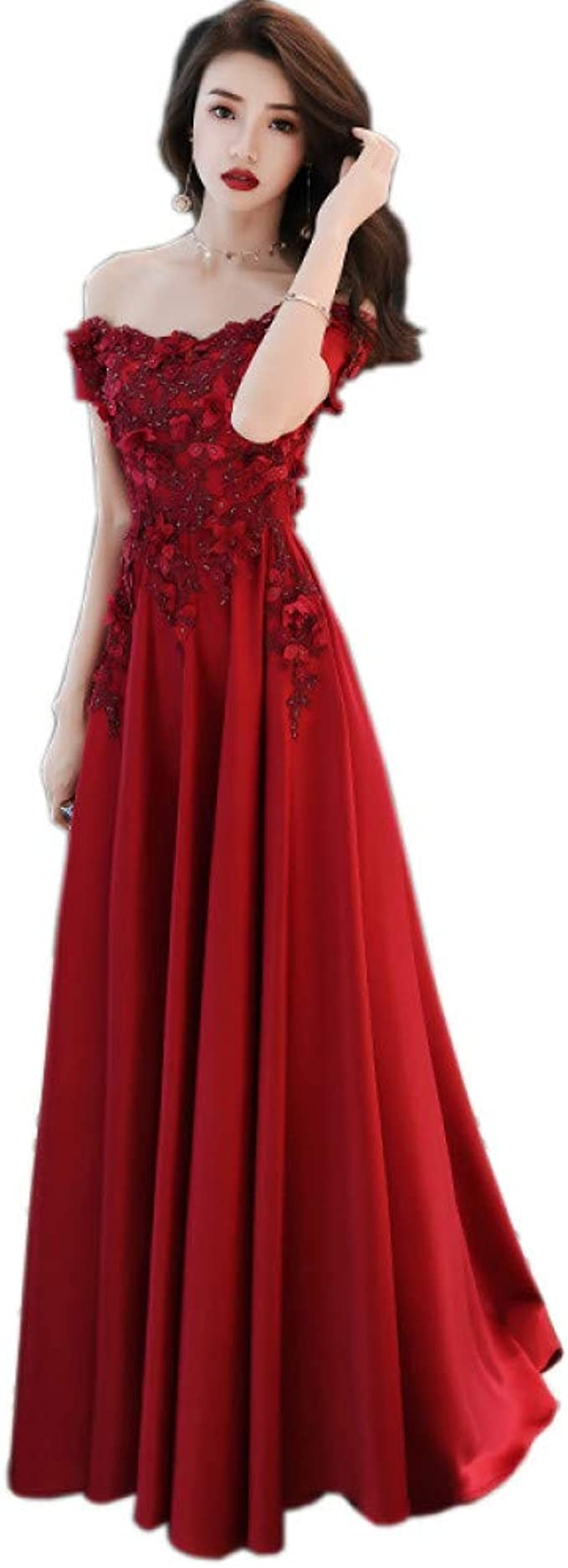 Rotes Satin Kleid Lang - Abendkleider & elegante Ballkleider