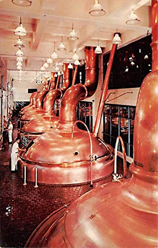 Chrome and copper brew kettles Miller Brewing CO, Milwaukee, Wisconsin, USA Postcard Unused