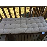 """OctoRose Soft Micro Suede Deluxe Outdoor Recliner Cushion Pads Bench Cushion Covers, Patio Long Chair Pads (17"""" x 40"""", Camel)"""