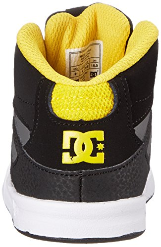 DC - Kleinkinder (F) Rebound Ul Hallo Top Schuhe, EUR: 20.5, Black/Grey/Yellow