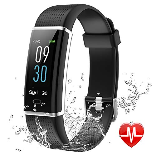 Lintelek Fitness Tracker, Color Screen Activity Tracker with Heart Rate Monitor, Sleep Monitor, 14 Sports Modes, IP68 Waterproof Pedometer, Step Counter for Kids, Women, Men (Business (Best Girl Era Mens Bracelets)