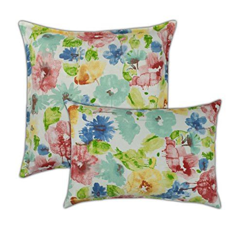 Sherry Kline Alcove White Combo Outdoor Pillow, White, Multi ()
