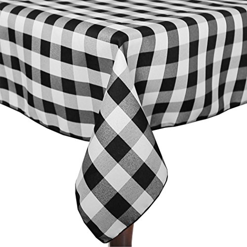 Ultimate Textile (3 Pack) 60 X 144 Inch Rectangular Polyester Gingham Checkered  Tablecloth