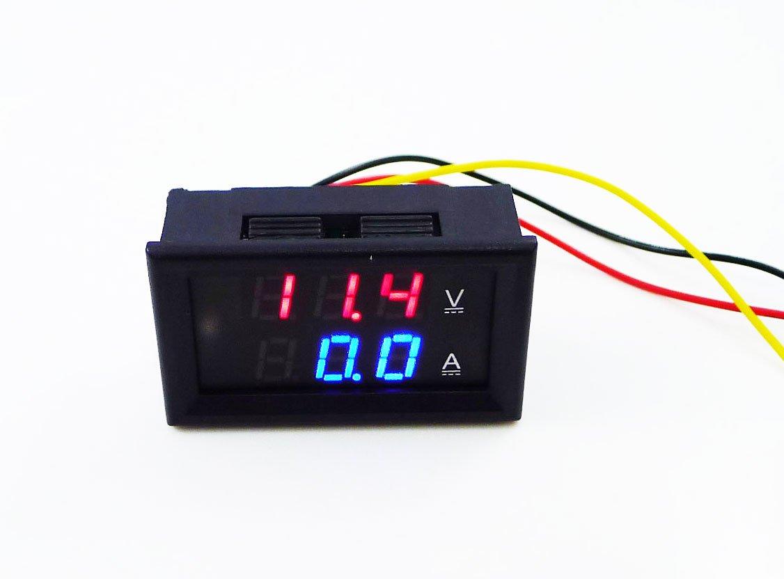 Geri Volt Amp Voltmeter Ammeter 2in1 Led Digital Voltage 12 Wiring Diagram Current Measurement Meter Dc 5v 12v 45 30v 100a With Shunt Red Blue Electronics