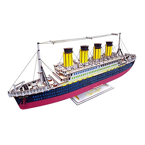 Super Large DIY Wooden Ship 3D Puzzle Model Ship by OUTDOORZONE