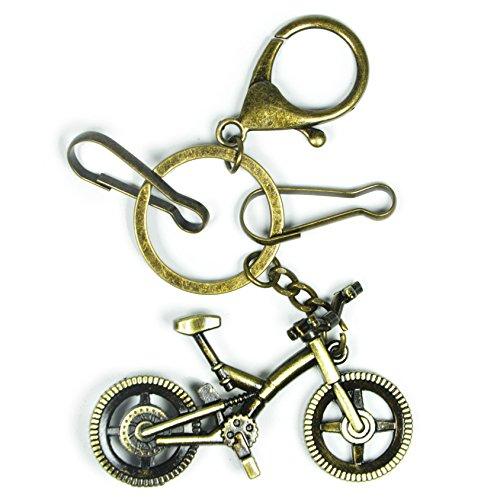 Bronze Key Chain,Handbag Tote Purse Ornament Charm Elegant Keychain Ornaments (Bicycle) (Tote Bicycle)