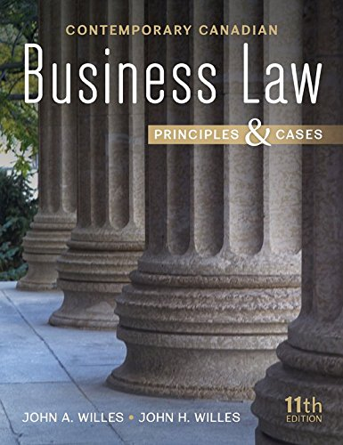 contemporary canadian business law principles and Be the first to review contemporary canadian business law principles and cases 10th edition test bank cancel reply your email address will not be published required fields are marked.