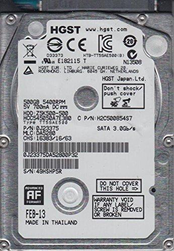 HCC545050A7E380, PN 0J23375, MLC DA5280, Hitachi 500GB SATA 2.5 Hard Drive