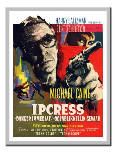Iposters Ipcress File Michale Caine Belgian Movie Print Magnetic Memo Board Silver Framed - 41 X 31 Cms (approx 16 X 12 Inches) ()