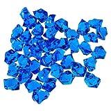 2 Pounds Royal Blue Acrylic Ice Rock Vase Filler Gems or Table Scatter