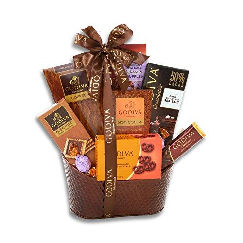 The Christmas Sampler Gourmet Godiva Chocolate Gift Basket